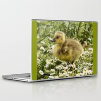 ryan gosling Laptop & iPad Skins featuring Fluffy Gosling by inkedsandra