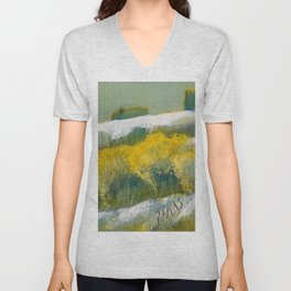 First Snow Landscape Painting / Dennis Weber / ShreddyStudio Unisex V-Neck