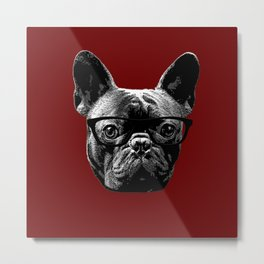 ultimate hipster red Metal Print