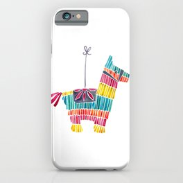 Mexican Donkey Piñata – CMYK Palette iPhone Case