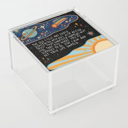 The old cycle has ended Acrylic Box