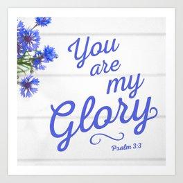 Psalm 3:3 Art Print