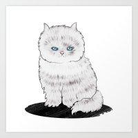 grumpy Art Prints featuring grumpy by manje