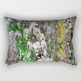 Jellyfish parade, acrylic on canvas Rectangular Pillow