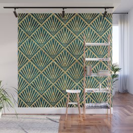 Stylish geometric diamond palm art deco inspired Wall Mural