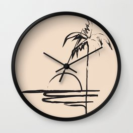Abstract Landscpe Wall Clock