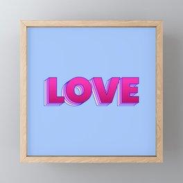 LOVE is a magic word Framed Mini Art Print