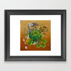 playing planet Framed Art Print