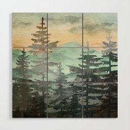 Pine Trees Wood Wall Art