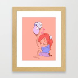 balloon love Framed Art Print