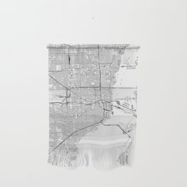 Miami White Map Wall Hanging