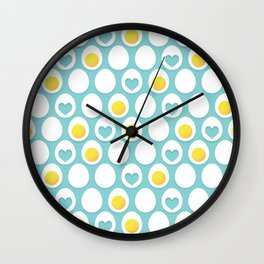 Eggs and hearts Wall Clock