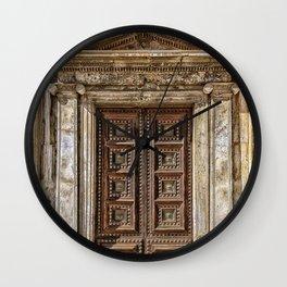 Roman Marble Doorway Photograph Wall Clock