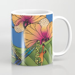 Tree Frog with Orchids Coffee Mug