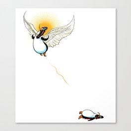 Flying Penguin Canvas Print