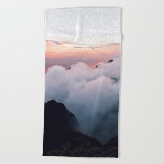 All the way up #society6 #buyart #mountains Beach Towel