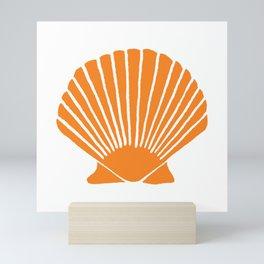 Orange Seashell Mini Art Print