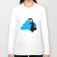 mary poppins Long Sleeve T-shirts featuring mary poppins by notbook