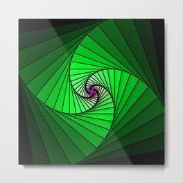 Spirale en vert, 2140b Metal Print