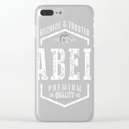 Abel-Name Clear iPhone Case