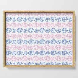 Spiral 3- Blue and pink Serving Tray