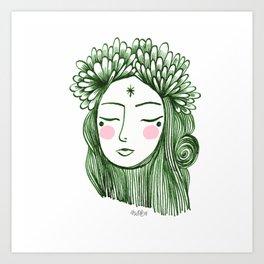 Miss Aster Art Print