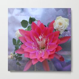 Roses Are White, Cactus is Rose... Metal Print
