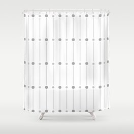 geometric pattern with grey circles Shower Curtain