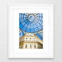 milan Framed Art Prints featuring Milan by Halina  Jasińska photography