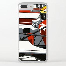 AYRTON SENNA- MONACO GRAND PRIX Clear iPhone Case
