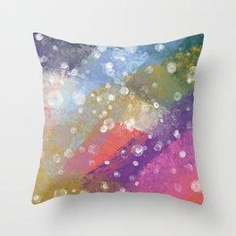 rainbow smudge Throw Pillow