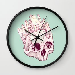 Skull No.2 // The Cristallized One Wall Clock