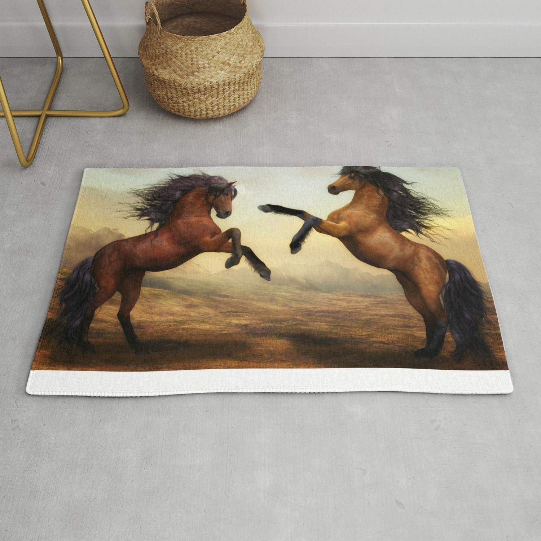 Wild Horses Rug By Susannphlike
