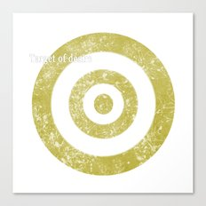 Target of desire - gold Canvas Print