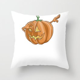 Pumpkin, It's Show Time Funny Halloween Horror Scary Throw Pillow