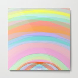 Double Rainbow - Fluor colors - Unicorn dreamers Metal Print