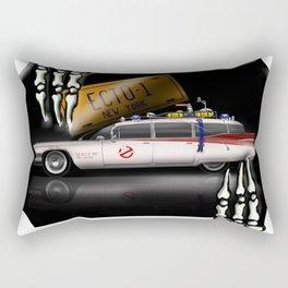 ECTO 1  Car - Cool Ghostbuster Car Rectangular Pillow