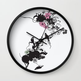 Fridas Garden Wall Clock
