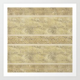 Greek Meander Pattern - Greek Key Ornament Art Print