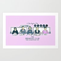 the breakfast club Art Prints featuring Breakfast Club by Ted Takeshi Doré