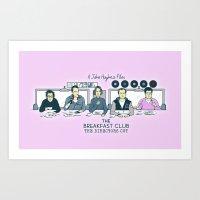 breakfast club Art Prints featuring Breakfast Club by Ted Takeshi Doré
