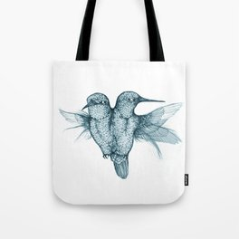 Conjoined Hummingbirds Tote Bag