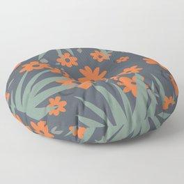 Modern Abstract Floral  Floor Pillow