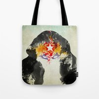 muscle Tote Bags featuring Muscle Girl by Arian Noveir