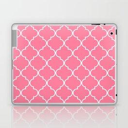 Quatrefoil - Watermelon pink Laptop & iPad Skin