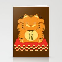 garfield Stationery Cards featuring Lucky Garfield by Ashley Hay