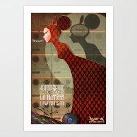 bjork Art Prints featuring Bjork by Martynas Juchnevicius