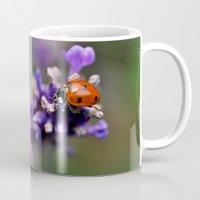 ladybug Mugs featuring Ladybug by Nathalie Photos