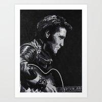 elvis Art Prints featuring Elvis by JeleataNicole