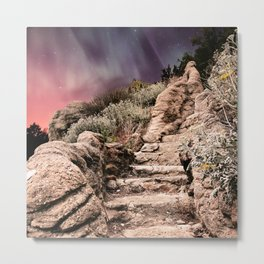 Stone Stairway to the Galaxy Metal Print